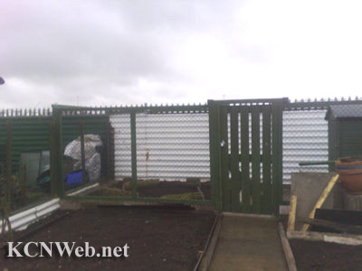 Chicken shed on allotment plot